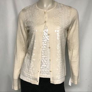 NWT St John sequined sweater set